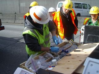 Battery St Tunnel Core Samples 3-21-09