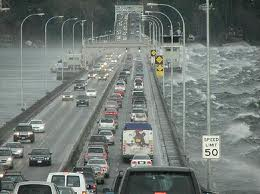SR520 Bridge in Storm
