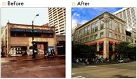 Pacific Place Garage before and after