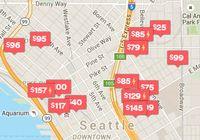Airbnb map screenshot