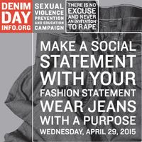 Denim day graphic
