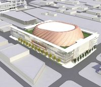 Arena drawing from street vacation petition